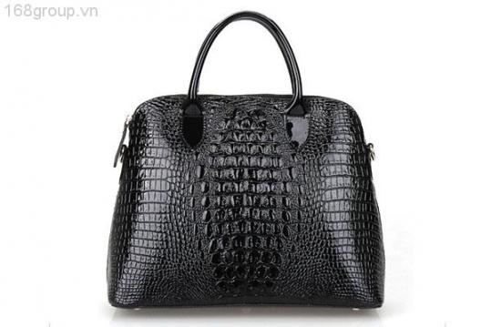 Túi xách thời trang hiệu SO.FITEL da thật vân cá sấu - NA29