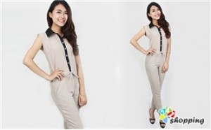 247 Shopping - Jumpsuit Dai Co So Mi That Eo