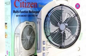 Quạt sạc Citizen XTC-168 với 2 chức năng đèn và quạt kết hợp, giúp nhà bạn vẫn sáng và mát mẻ ngay cả khi cúp điện chỉ với 370.000đ.
