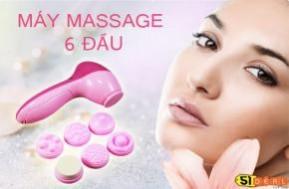 Làn da căng mịn, khỏe mạnh với Máy massage mặt 6 đầu SKIN RELIEF (2 đầu massage mặt, 2 đầu massage ngực, 1 đầu massage vành tai, 1 đầu tẩy trang) chỉ có giá 69.000Đ