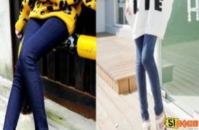 Trẻ Trung, Sành Điệu Và Cá Tính Với Quần Legging Giả Jeans – Kiểu Dáng Thời Trang, Chất Liệu Thun Mềm Mịn. Giá Chỉ 75.000 VNĐ. - Thời Trang và Phụ Kiện