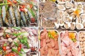 Thưởng thức Lẩu Hải Sản và nhiều món nướng trên than hồng đặc sắc, cho bạn vị ngon kiểu ẩm thực Thái với nguyên liệu tượi sống, bổ dưỡng tại nhà hàng HAPPY TÔM. Buffet giá gốc 299.000đ nay chỉ còn 199.000đ, nhanh tay cùng mua ngay bạn nhé