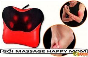 Gối massage Happy Mom (365*115*255mm): Chất liệu cao cấp ứng dụng công nghệ massage hiện đại, tiên tiến nhất, giảm tình trạng căng, mỏi cơ và tăng cường sự săn chắc của cơ thể. Chỉ 580.000 VNĐ.