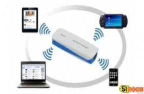 Bộ phát Wifi 3G không dây kết hợp chức năng pin sạc dự phòng. Trợ thủ đắc lực khi phải di chuyển nhiều chỉ với 399.000 đồng.