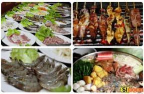 Chỉ với 125.000đ bạn sẽ tha hồ thưởng thức lẩu buffet với 7 loại nước lẩu và hơn 40 loại thịt, hải sản tại Nhà hàng Xiên Xiên. - 1 - Ăn Uống