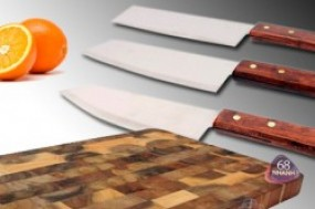Bộ 3 cây dao lớn + 1 thớt gỗ cao cấp, với giá cực mềm chỉ còn 85.000 đ