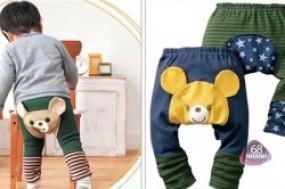Combo 3 quần len hình thú ngộ nghĩnh sắc màu, mềm mại và êm ái cho bé yêu của bạn từ 1- 3 ...