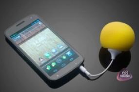 Độc đáo và ấn tượng với Loa tròn mini Audio Dock bọc mút bông cực xinh, màu sắc nổi bật, âm ...