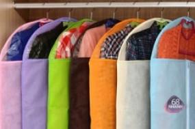 Combo 3 túi bảo vệ quần áo với chất liệu vải không dệt, tiện ích chống quần áo ẩm mốc, ...