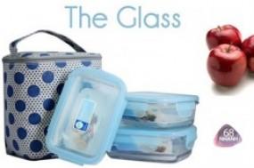 Bộ 3 hộp thủy tinh và túi giữ nhiệt The Glass đựng thức ăn, xuất xứ Hàn Quốc, giữ nhiệt ...