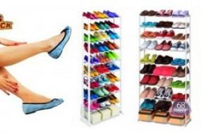 Bảo quản sắp xếp giày dép gọn gàng, tiện lợi với kệ để giày 10 tầng giúp lưu trữ và ...