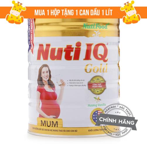 Sữa Nuti IQ Mum Gold NutiFood 900g (kèm quà tặng)