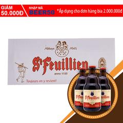 A Đây Rồi - Bia St-Feuillien Brune thung 24 chai x 330ml