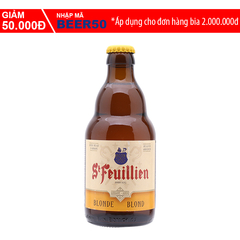 A Đây Rồi - Bia St Feuillien Blond chai 750ml