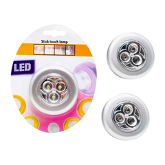 A Đây Rồi - Combo 3 den LED dan tuòng USA Store Stick & Click (Bạc)