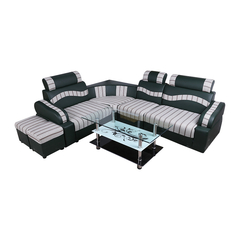 A Đây Rồi - Bo sofa goc kem ban kinh 1.6 x 2.2 m