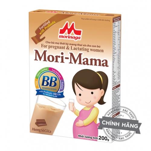 Sữa bà bầu Morinaga Mori Mama hương Chocolate 200g