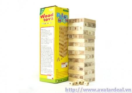 Chỉ với 50.000đ Sở Hữu Ngay Bộ đồ chơi rút gỗ hấp dẫn - Thỏa thích vui chơi cùng bạn bè, người thân - Phù Hợp Với Mọi Lứa Tuổi Với Nhiều Kiểu Chơi. Ưu đãi giảm giá chỉ có tại Avatardeal.vn!