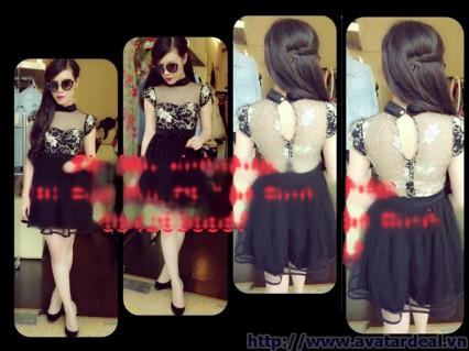 Đầm xòe ren công chúa miuxinh