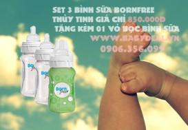 Baby Deal - Binh sua BornFree Thuy Tinh 260ml