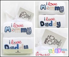 Set 02 áo body I Luv Mommy , Daddy