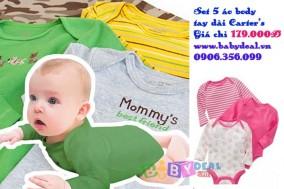 Baby Deal - Set 5 Ao Body Tay Dai