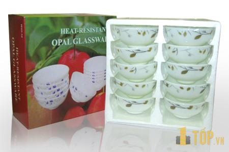 Bộ 10 Chén Opal glassware cao cấp