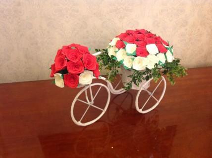 Lãng mạn, yêu thương và độc đáo cùng Xe đạp hoa giấy - Handmade - Món quà đặc biệt dành cho người thương yêu nhân ngày 8/3!