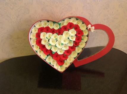 Hoa giấy trái tim - Handmade
