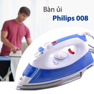 Bàn Ủi Hơi Nước Philips 008 - Mặt bàn là chống dính titan giúp việc là ủi quần áo nhẹ nhàng, tiết kiệm thời gian hơn