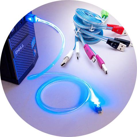 Cáp sạc Micro USB LED dạ quang (Samsung, Sony, HTC) - PKDT185