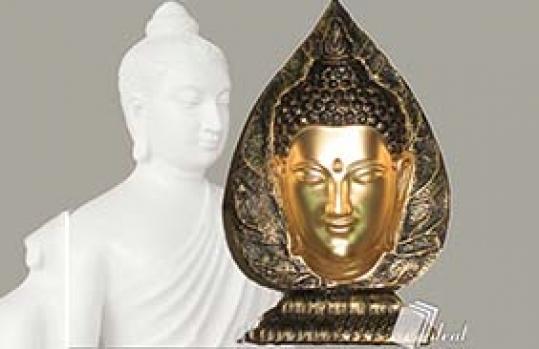 Tượng Phật Lá Bồ Đề 3D