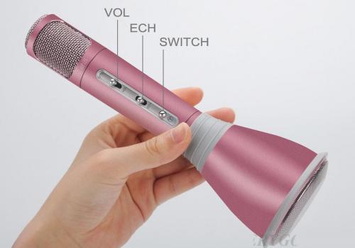 7Deal - Micro hat karaoke co loa cho dien thoai ket noi bluetooth k068