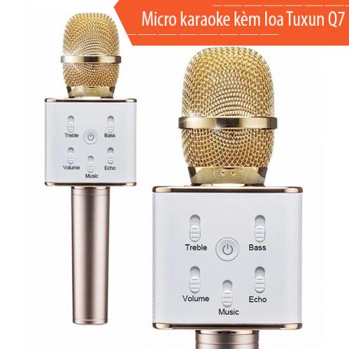 7Deal - Mic karaoke kem loa 3 in 1 Tuxun Q7 cho dien thoai