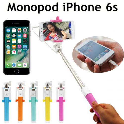 Gậy chụp hình tự sướng Monopod iPhone 6S dây cắm đầu iphone 6 thay thế cho dây 3.5 cổ điển