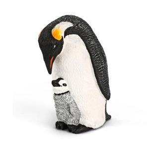 Chim cánh cụt hoàng đế với chim con Schleich 14632
