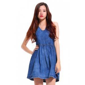 Đầm jean nữ Aponi N553