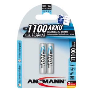 Bộ 2 pin sạc AAA Ansmann 1100mAh