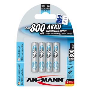 Bộ 4 pin sạc AAA Ansmann 800mAh
