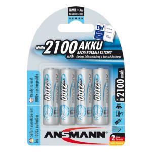 Bộ 4 pinsạc AA Ansmann 2100mAh