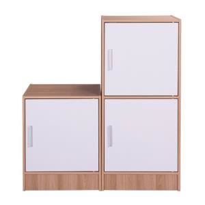 Bộ 2 tủ Modulo Home Leo 1-1 + 2-2 Nâu