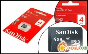 Cơ Hội Mua - The nho dien thoai SANDISK 4GB - Hang...
