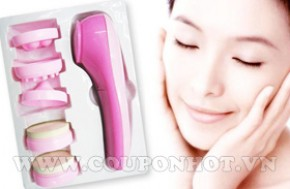 Coupon Hot - Nhom Mua May Massage Mat 5 dau SKIN RELIEF