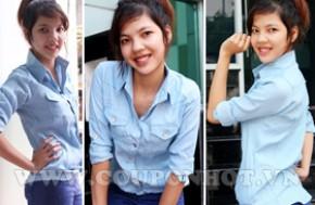Cùng Mua Áo Sơ Mi Giả Jeans Dài Tay