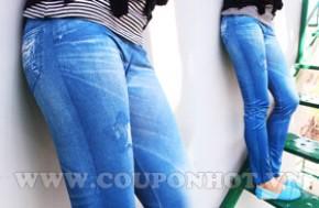 Nhóm Mua Quần Legging Giả Jeans Free Size:
