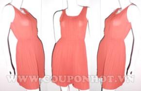 Đầm Xếp Ly Voan Thời Trang Free Size: