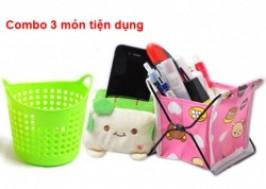 TP. HCM - Tân Bình: Giảm giá 37% - Combo 3 món đựng đồ dùng văn phòng
