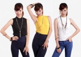 Hà Nội - Cầu Giấy: Giảm giá 53% - Áo len nữ ba lỗ cổ lọ hàng Hàn Quốc xuất khẩu.