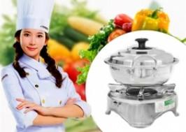 TP. HCM - Tân Bình: Giảm giá 41% - Bộ Bếp Cồn Và Nồi Nấu Lẩu