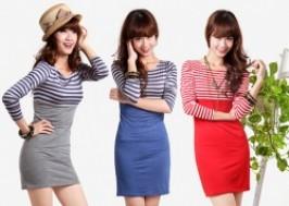 Hà Nội - Hai Bà Trưng: Giảm giá 47% - Váy kẻ ngang dài tay xinh xắn